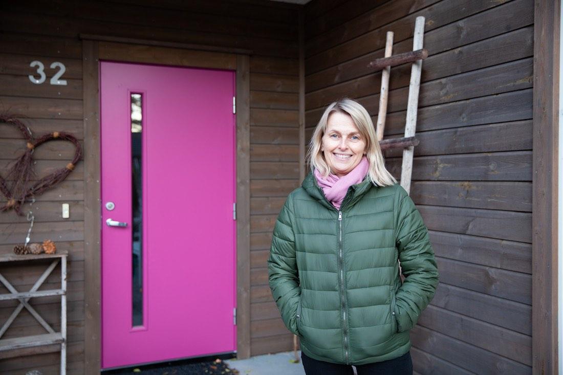 Anne Karine Voje kan fornøyd konstatere at det å bygge et nytt hus var et godt valg. Lindal Hus