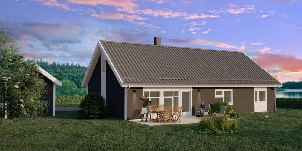 Lindal Hus. Ljøstad – Praktisk hus over en flate